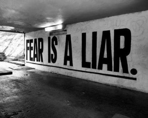 inspirational picture quotes fear is a liar