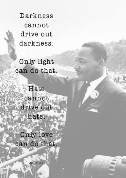 Martin Luther King Quote Only Love