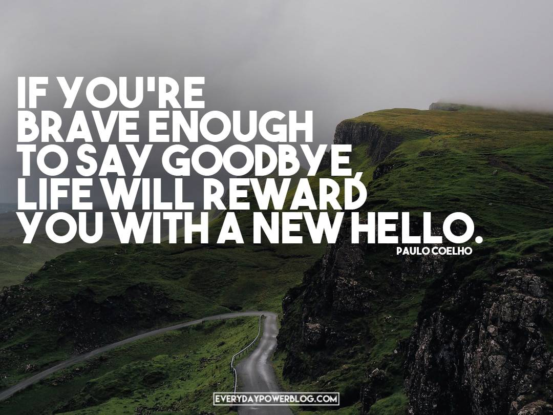 Paulo Coelho Quotes About saying goodbye