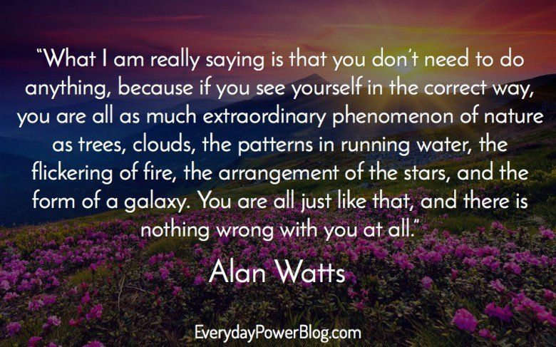 Natural Life Quotes Interesting Alan Watts Quotes About Life Love And Dreams That Will Awaken You