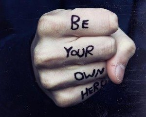 inspirational picture quotes be your own hero