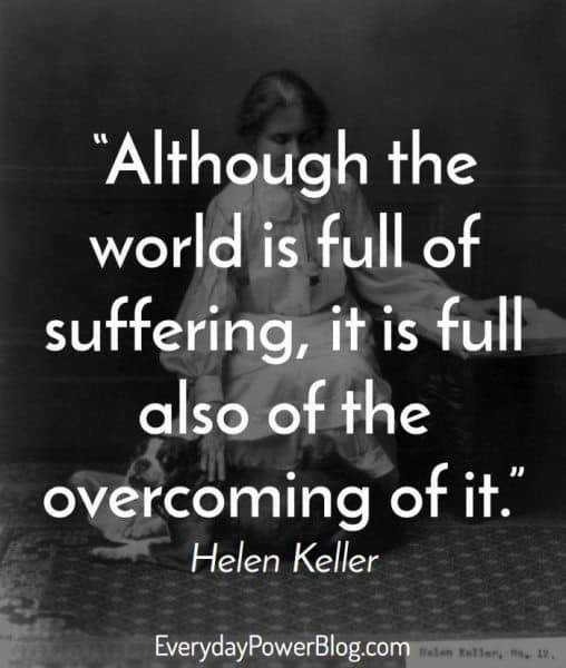 Helen keller quotes about vision love and optimism to inspire you motivational helen keller quotes altavistaventures Image collections
