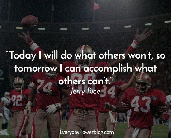 Jerry Rice Inspirational Sports Quotes