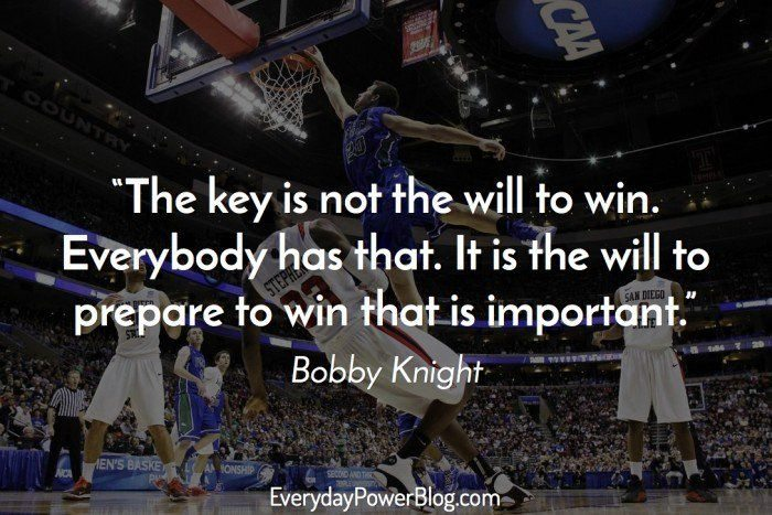 Bobby Knight Inspirational Sports Quotes
