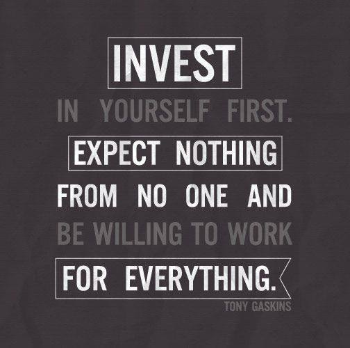 invest in yourself first