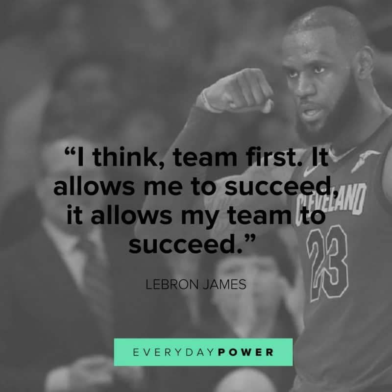 Lebron James Quotes about leadership