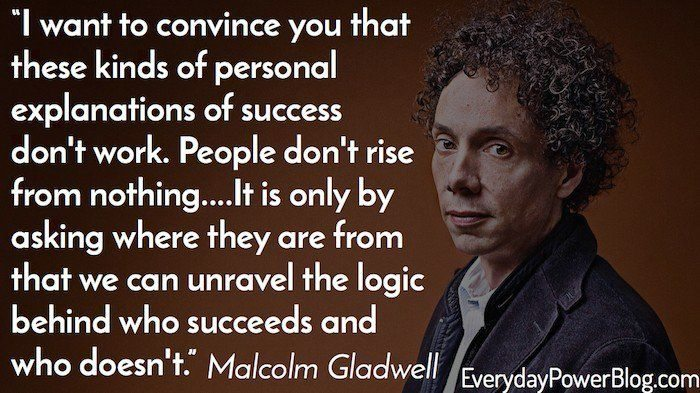 how to be a success by malcolm gladwell summary