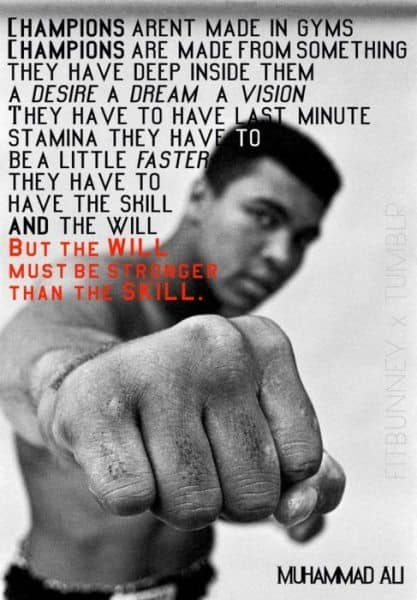 Gentil Muhammad Ali Quotes On Training, Life And Freedom