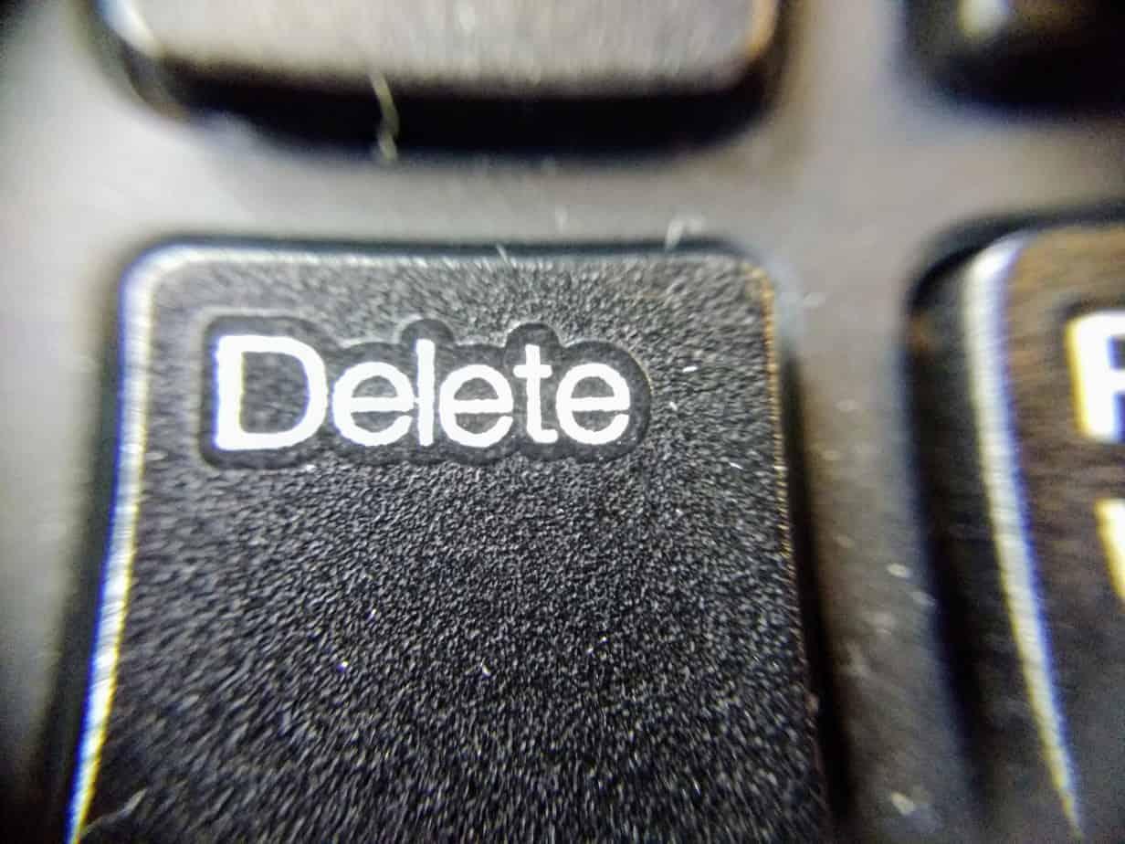 delete button