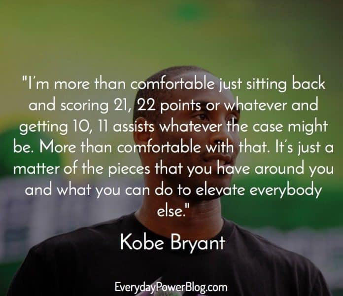 of the way so i m prettyfortable with that kobe bryant
