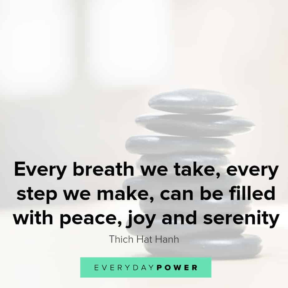 thich hat hanh quotes on peace and joy
