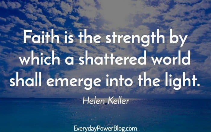 helen keller faith quote