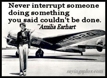Amelia Earhart Quotes about flying