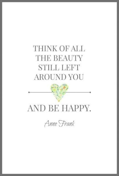 Anne Frank Quotes about being happy