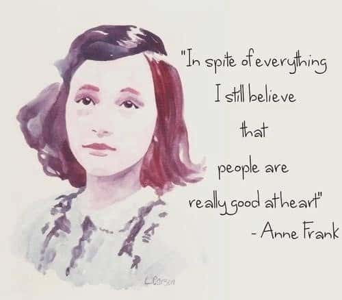 Anne Frank Quotes about believing in people