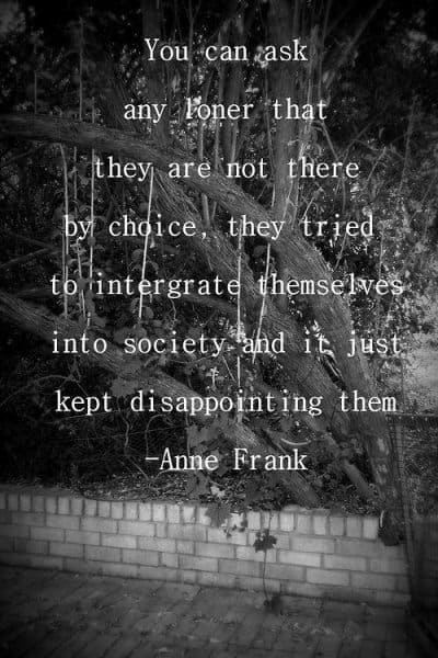 Anne Frank Quotes about society