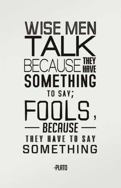 If Plato had said