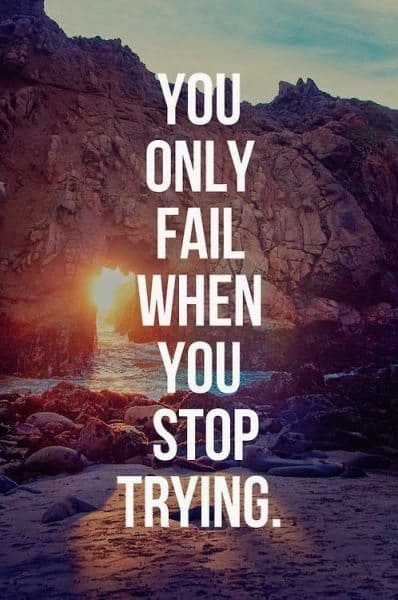 Your way to success will pass through massive failure