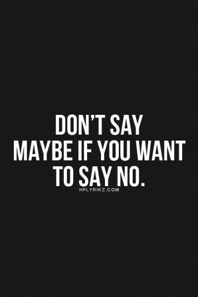 how to say no 1
