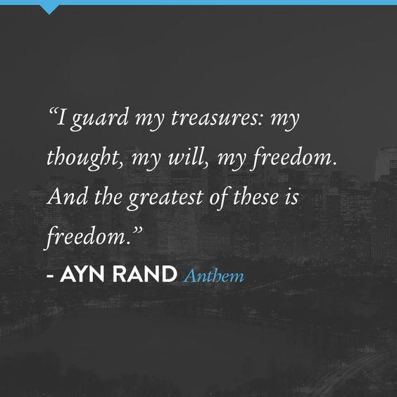 equality through independence in anthem a novel by ayn rand Anthem by ayn rand home / literature  we exist through, by and for our brothers who are the state  equality 7-2521 finds himself at odds with the collective 0.