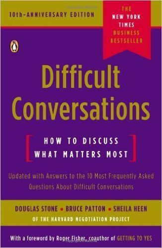 conflict resolution books for difficult conversations