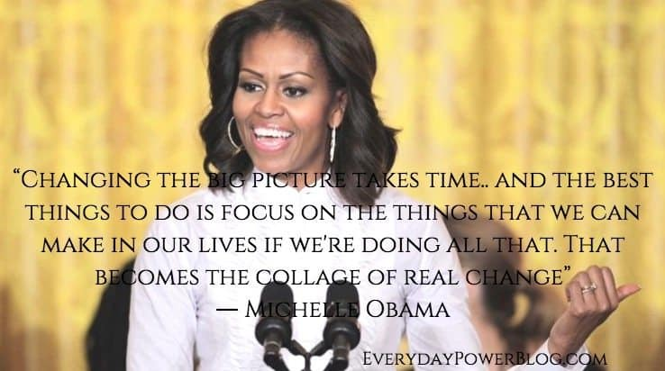 Michelle Obama quotes from her speeches and interviews about life, success, love and education