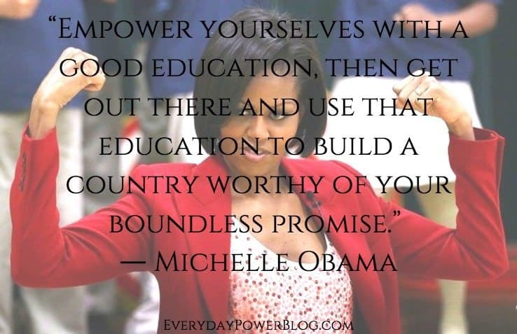 Michelle Obama quotes about education