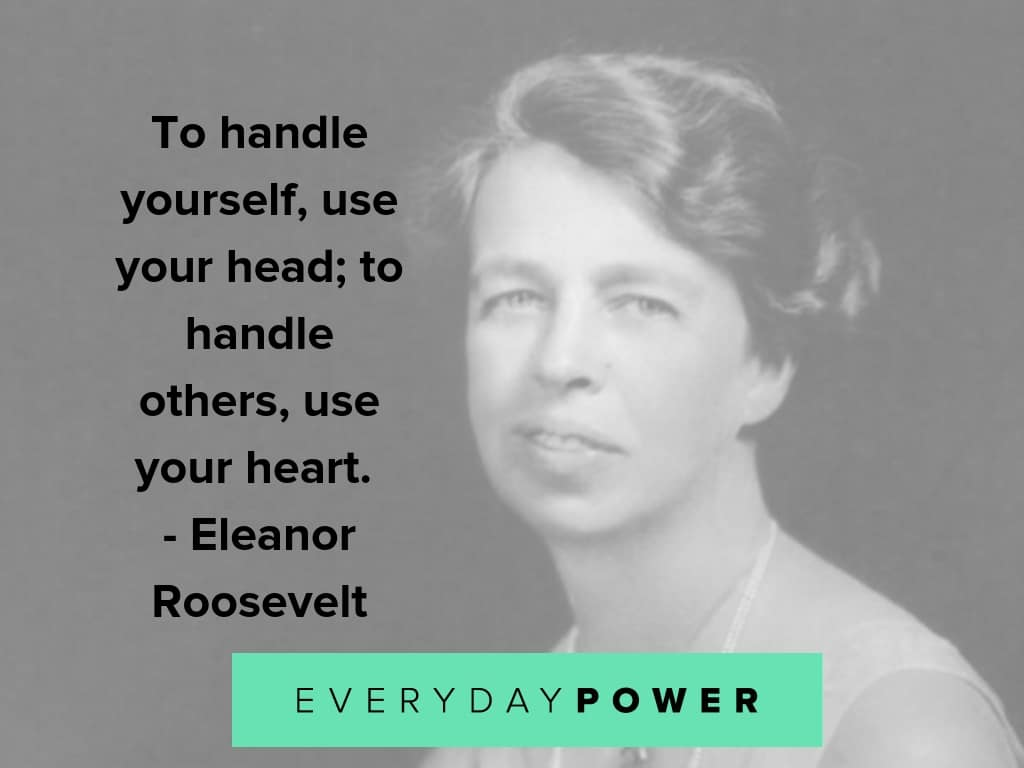 eleanor roosevelt quotes on handling others