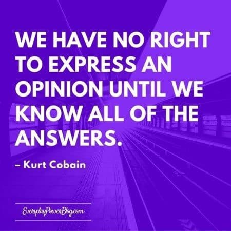 kurt cobain quotes and answers