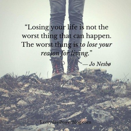 quotes on depression losing life