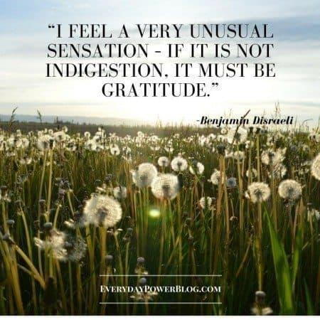 gratitude quotes unusual sensation