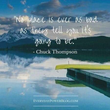 quotes about adventure no place is as bad