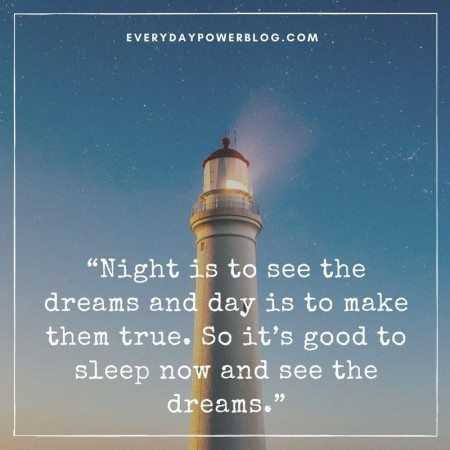 good night quotes lighthouse
