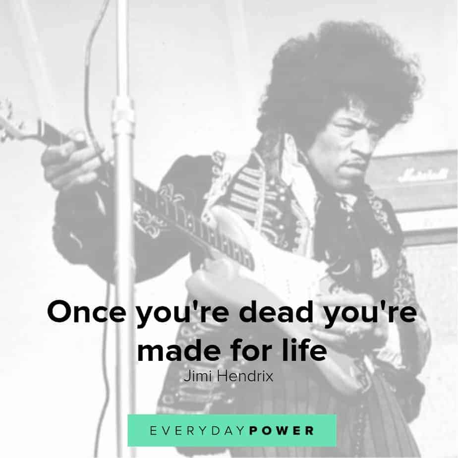 jimi hendrix quotes about death