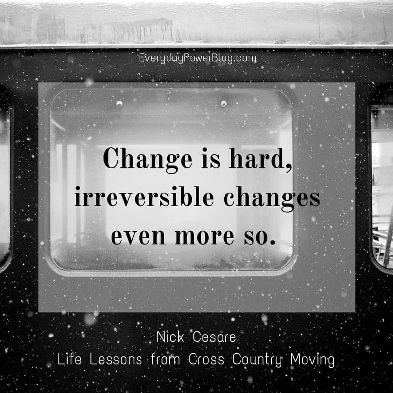 Life Lessons from Cross Country Moving