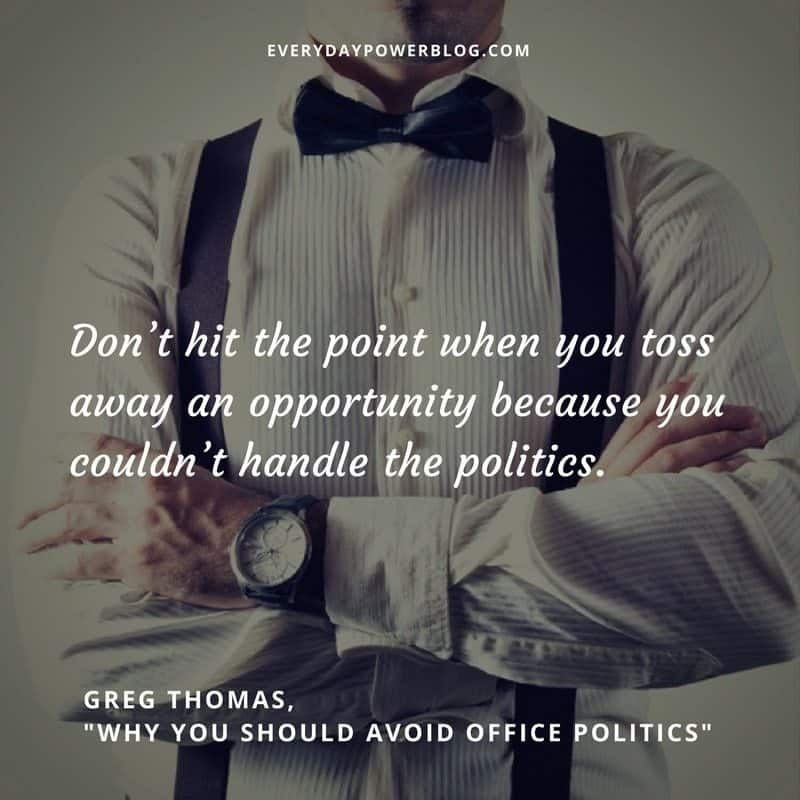 Why You Should Avoid Office Politics