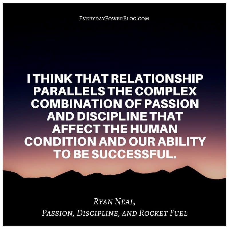 Passion, Discipline, and Rocket Fuel