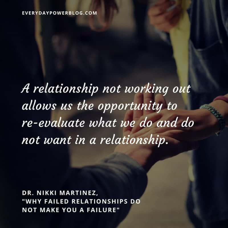 Failed Relationships Do Not Make You a Failure