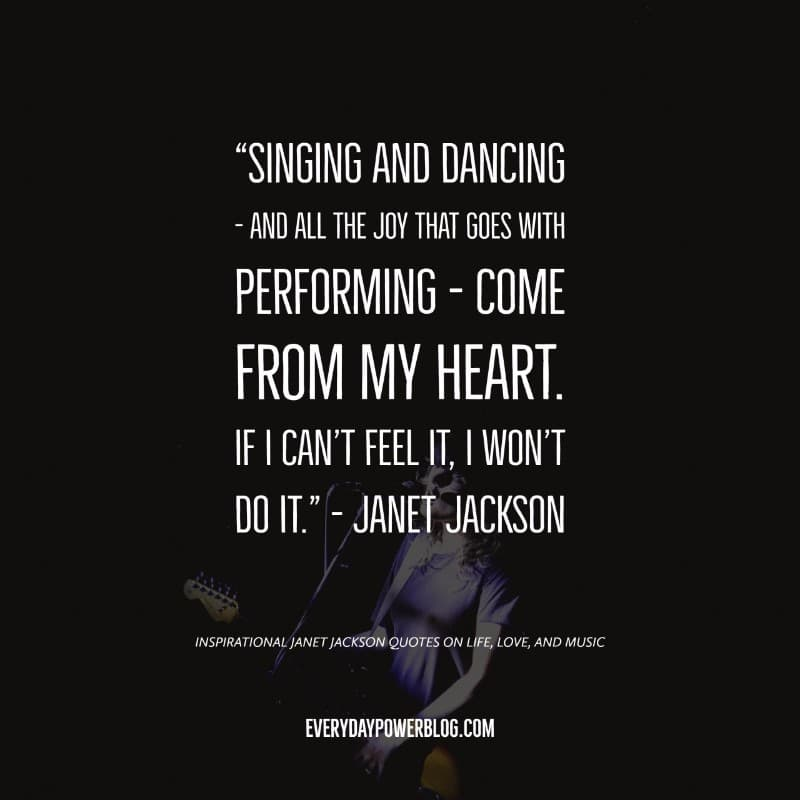 Inspirational Janet Jackson Quotes