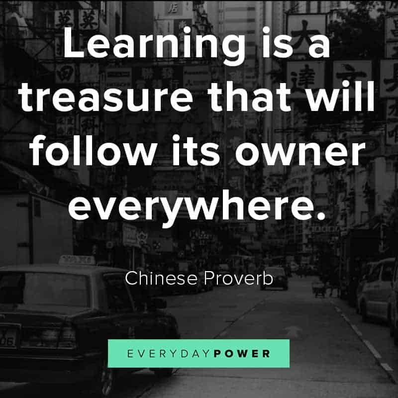 Chinese proverbs about learning