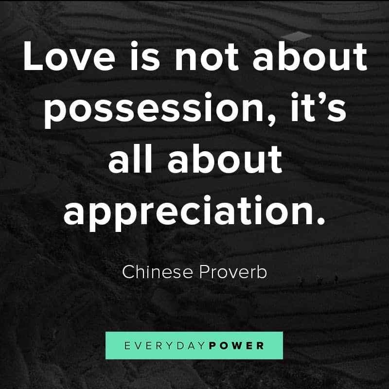 Famous Chinese proverbs about love