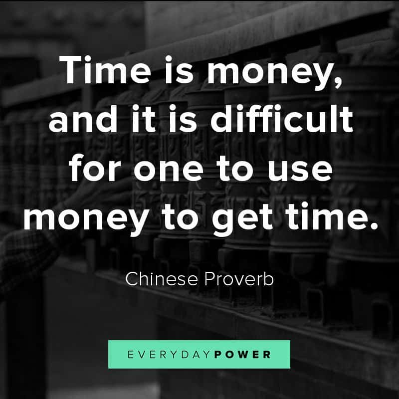 Famous Chinese proverbs about money