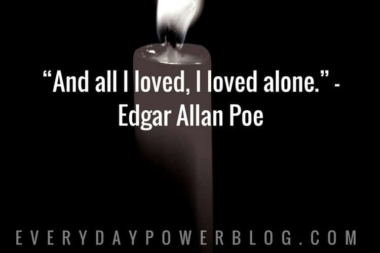 Poe Love Quotes Fascinating 30 Powerful Edgar Allan Poe Quotes About Life From His Books And Poems