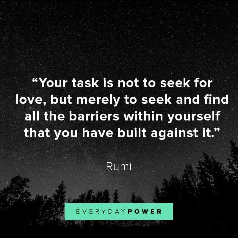 Image of: Beinginsightful Rumi Quotes On Love And Relationships Everyday Power 70 Rumi Quotes About Love Life And Light 2019