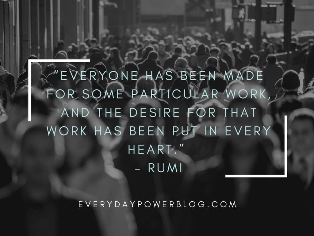 rumi quotes about work