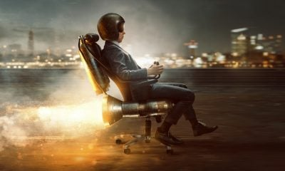 A Man in a Rocket Chair