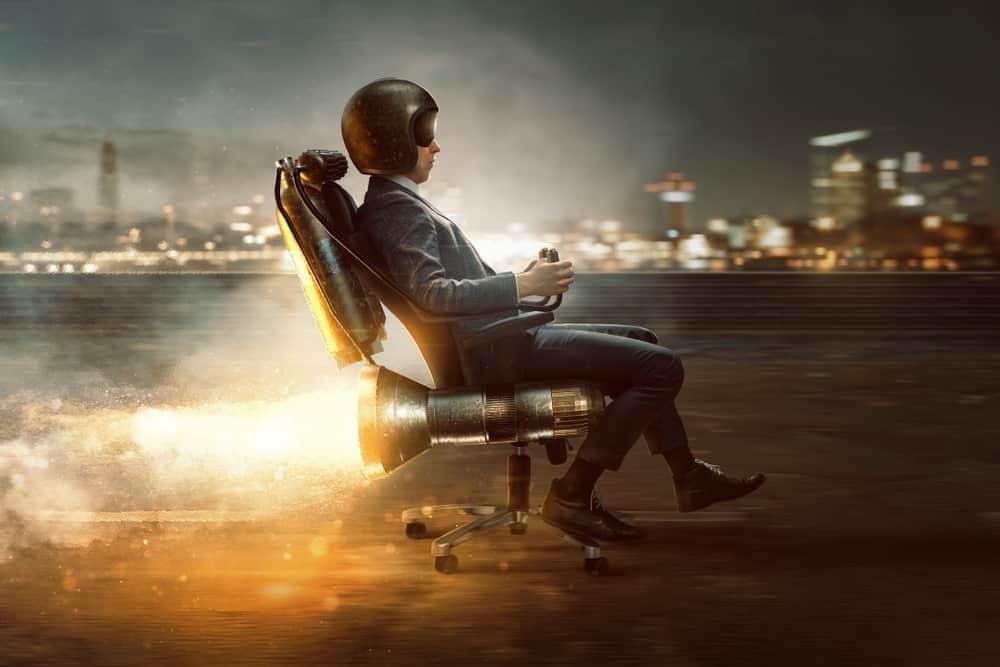 A Man in a Rocket Chair