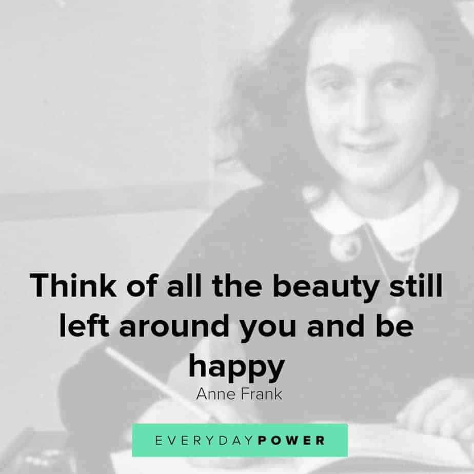anne frank quotes on being happy