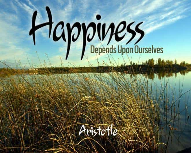 happiness quote from aristotle