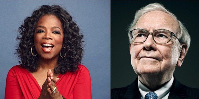 oprah and warren buffet and what they did befor ethey were famous